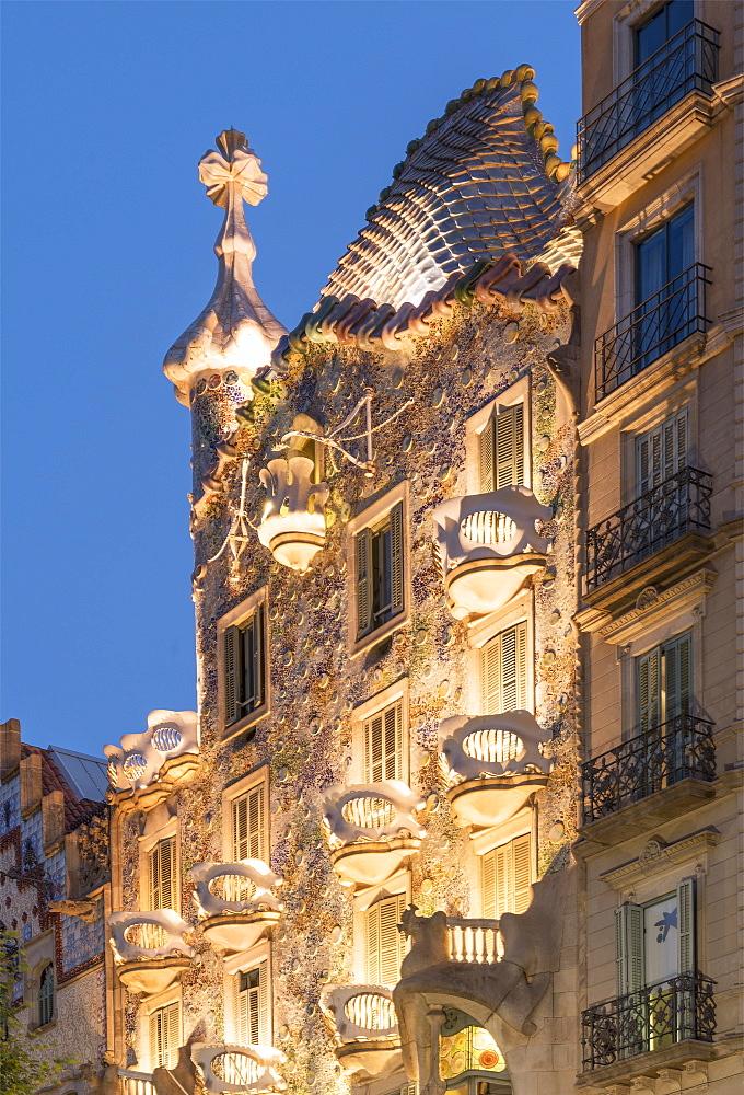 Casa Batllo, UNESCO World Heritage Site, Barcelona, Catalonia, Spain, Europe - 772-3700