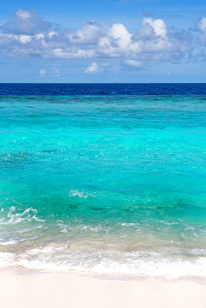 The crystal clear water of the Indian Ocean in the Maldives, Indian Ocean, Asia