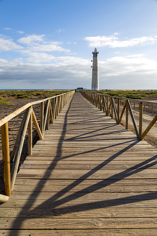 Boardwalk to Faro de Morro Jable on the volcanic Island of Fuerteventura, Canary Islands, Spain, Atlantic, Europe - 785-2258