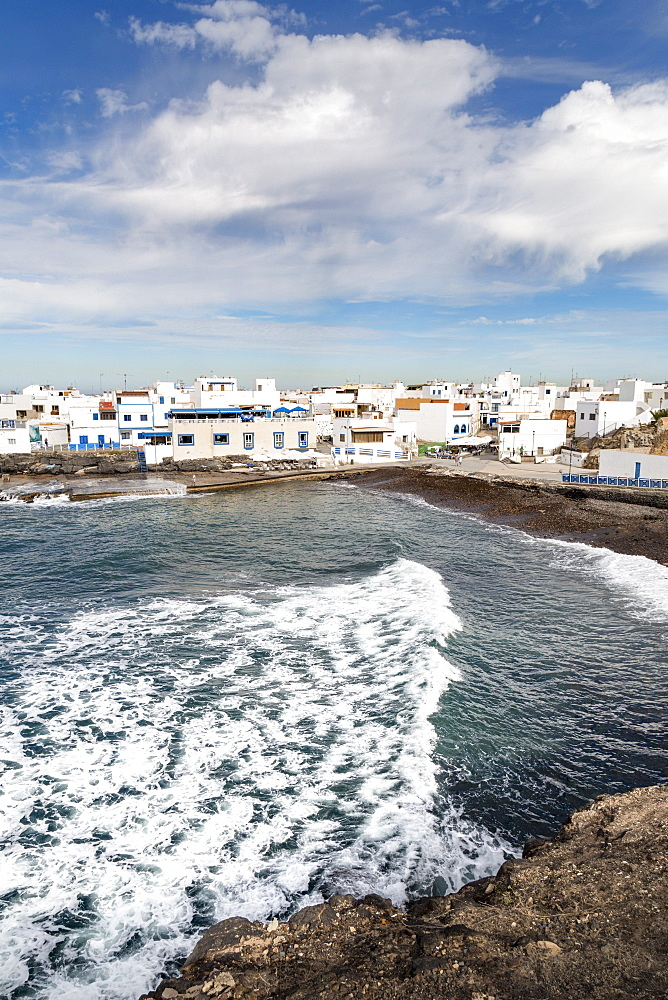 The old town of El Cotillo on the volcanic island of Fuerteventura, Canary Islands, Spain, Atlantic, Europe - 785-2270