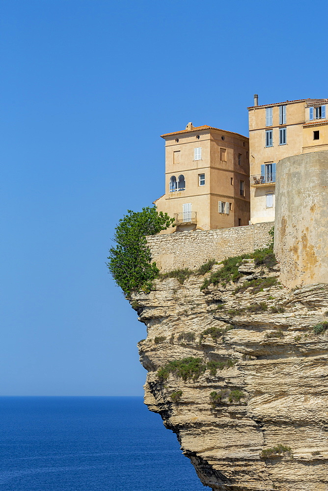 The Citadel and old town of Bonefacio perched on rugged cliffs - 785-2358