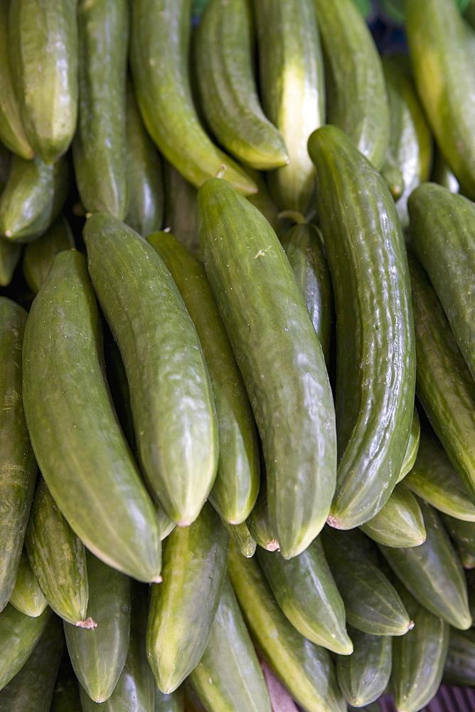 Cucumbers, market, Old Town, Prague, Czech Republic, Europe