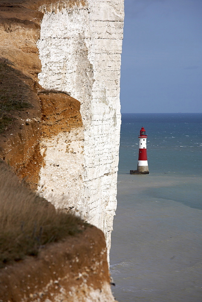 Lighthouse, Beachy Head, East Sussex, England, United Kingdom, Europe - 790-13