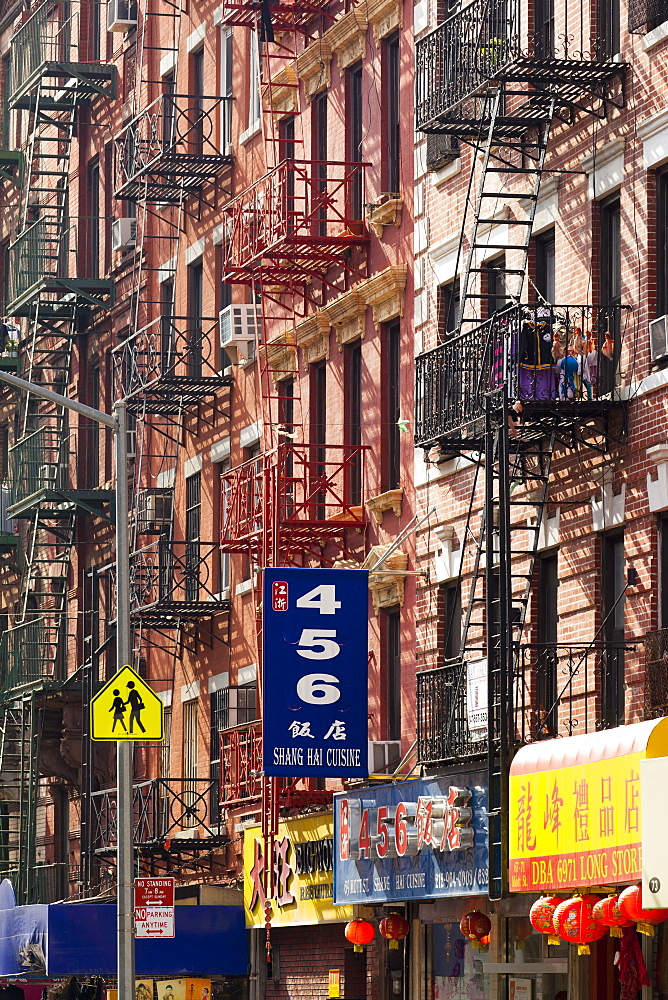 Street scene in China Town, Manhattan, New York City, New York, United States of America, North America