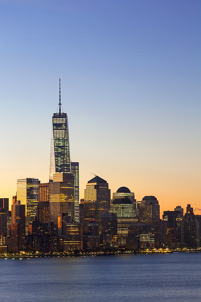 One World Trade Center and Downtown Manhattan across the Hudson River, New York United States of America, North America