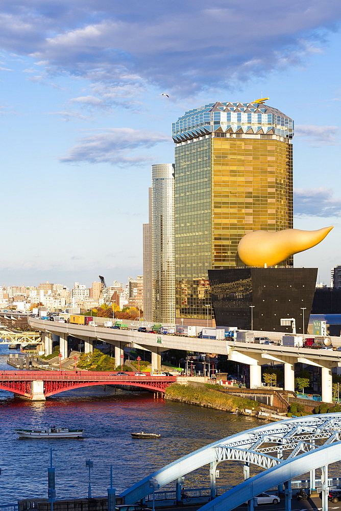 Japan, Tokyo, modern architecture along the Sumida River - 794-4513