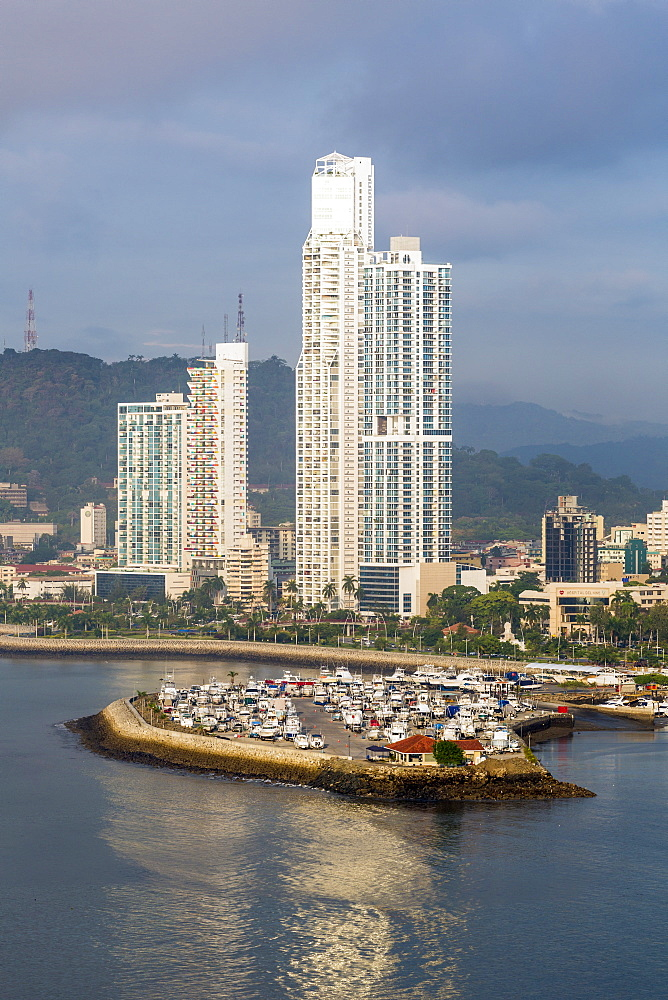Apartment towers, Panama City, Panama, Central America