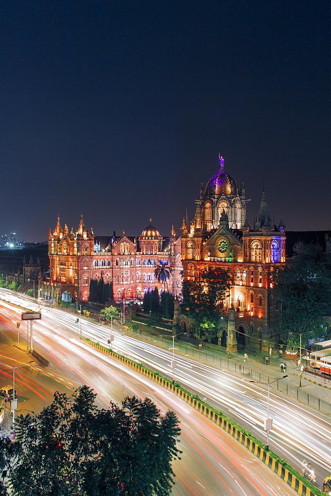 Chhatrapati Shivaji Maharaj Terminus railway station (CSMT), formerly Victoria Terminus, UNESCO World Heritage Site, Mumbai, Maharashtra, India, Asia - 794-4620