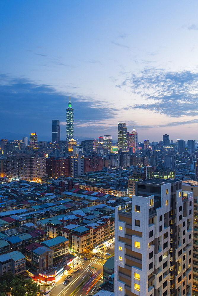 City skyline and Taipei 101 building, Taipei, Taiwan, Asia - 794-4636