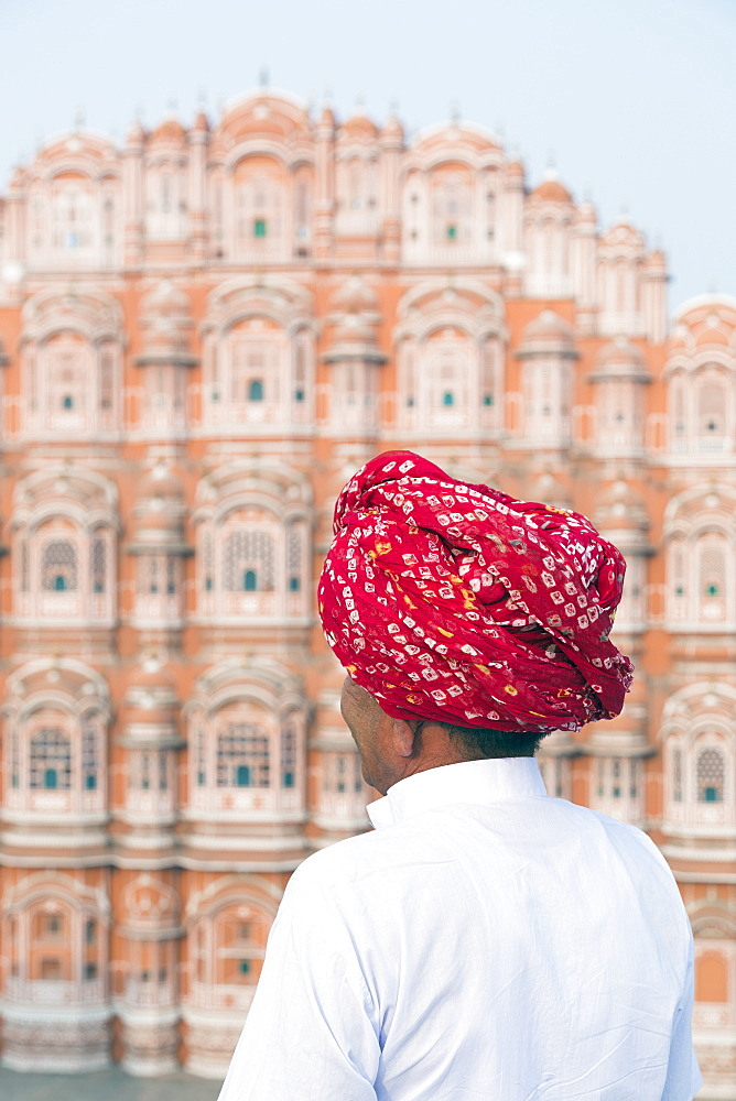 Hawa Mahal (Palace of the Winds), built in 1799, Jaipur, Rajasthan, India, Asia - 794-4653