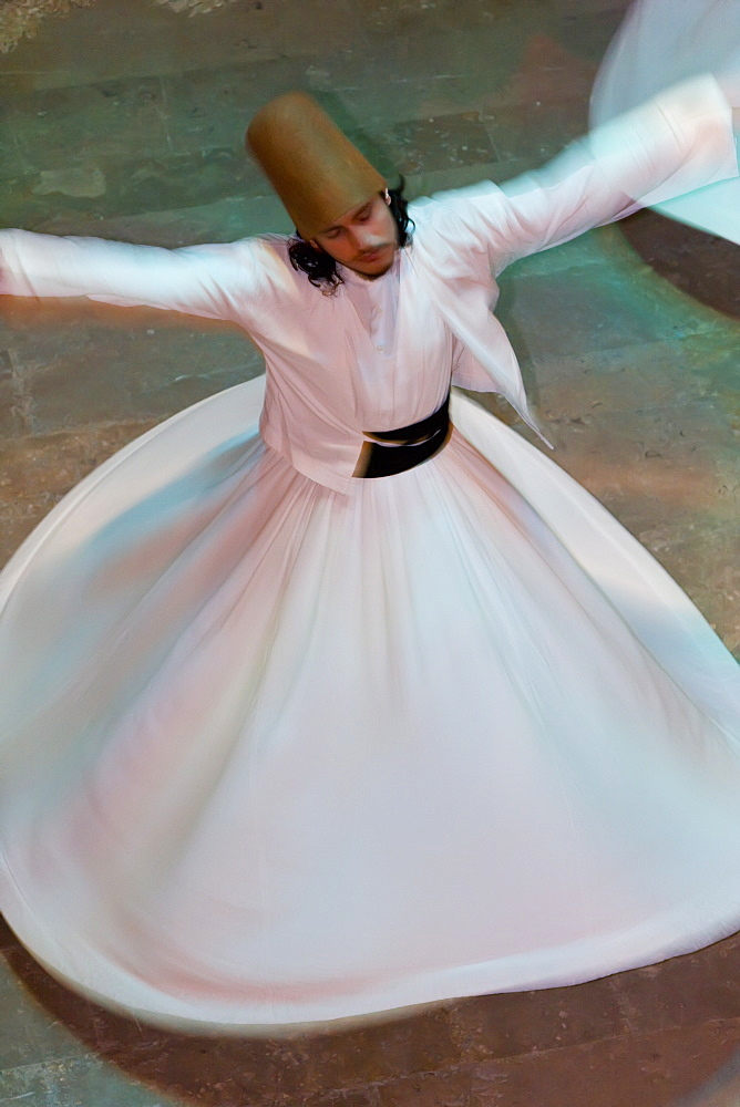 The Mevlevi, (Whirling Dervishes) performing the Sema (ceremony), Istanbul, Turkey, Europe - 794-616