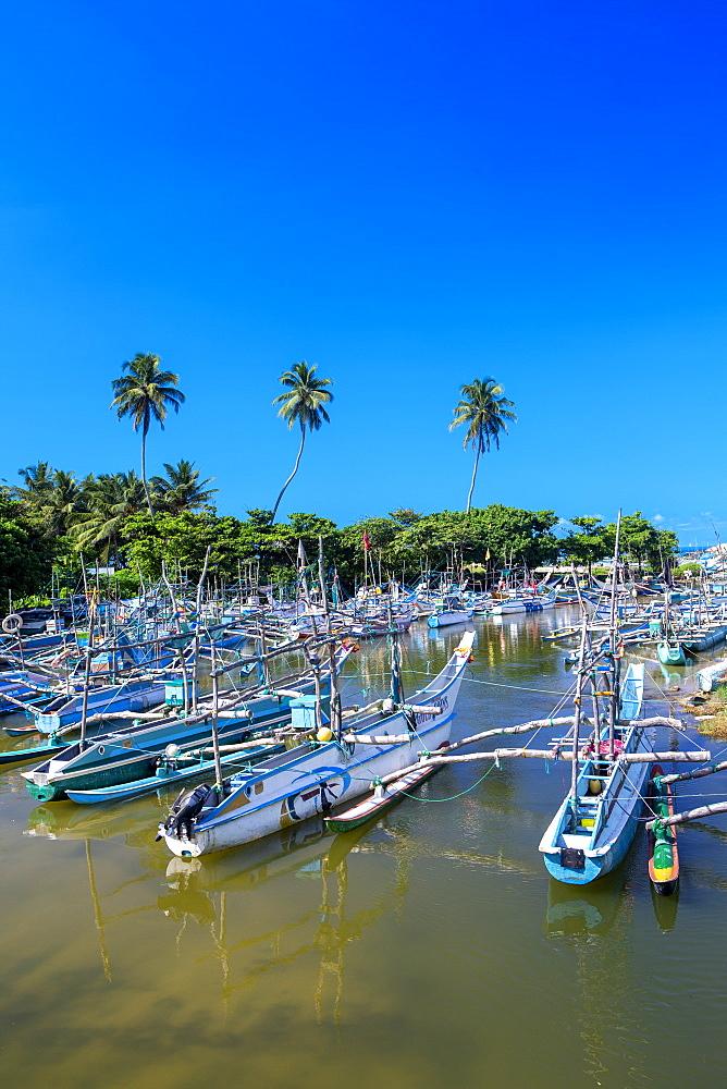 Fishing boats near Galle, Sri Lanka, Asia - 795-624