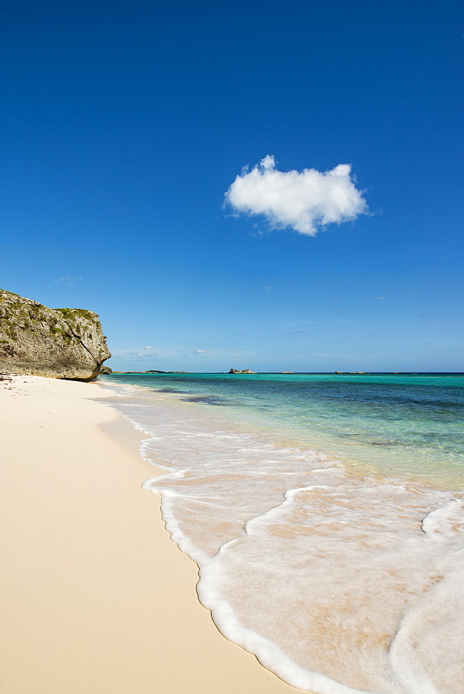 Secret Cave Beach, Middle Caicos, Turks and Caicos Islands, West Indies, Central America - 796-2440