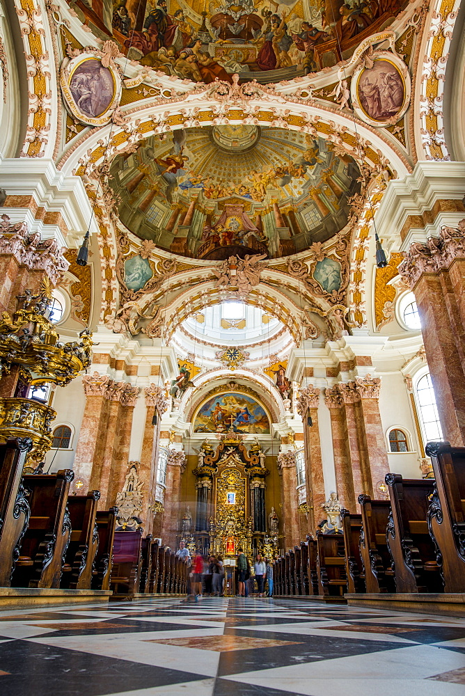 Ceiling of Cathedral of St. James, Old Town, Innsbruck, Tyrol, Austria, Europe - 796-2531