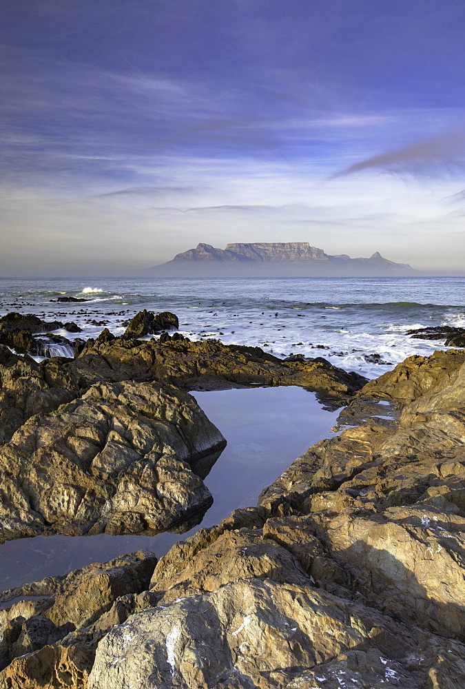 View of Table Mountain from Bloubergstrand, Cape Town, Western Cape, South Africa - 800-3191
