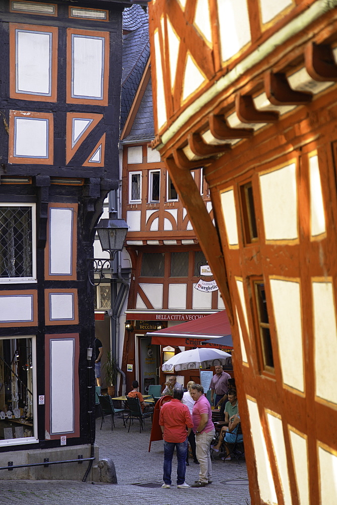 Outdoor restaurants in Fischmarkt, Limburg, Hesse, Germany - 800-3571