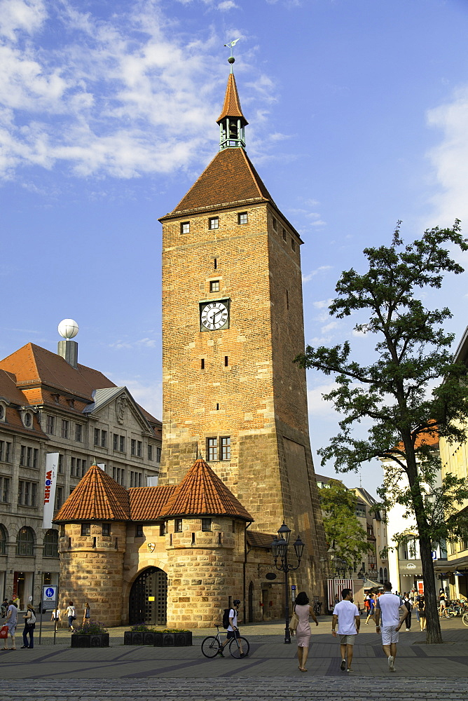 Weisser Turm, Nuremberg, Bavaria, Germany, Europe - 800-3590