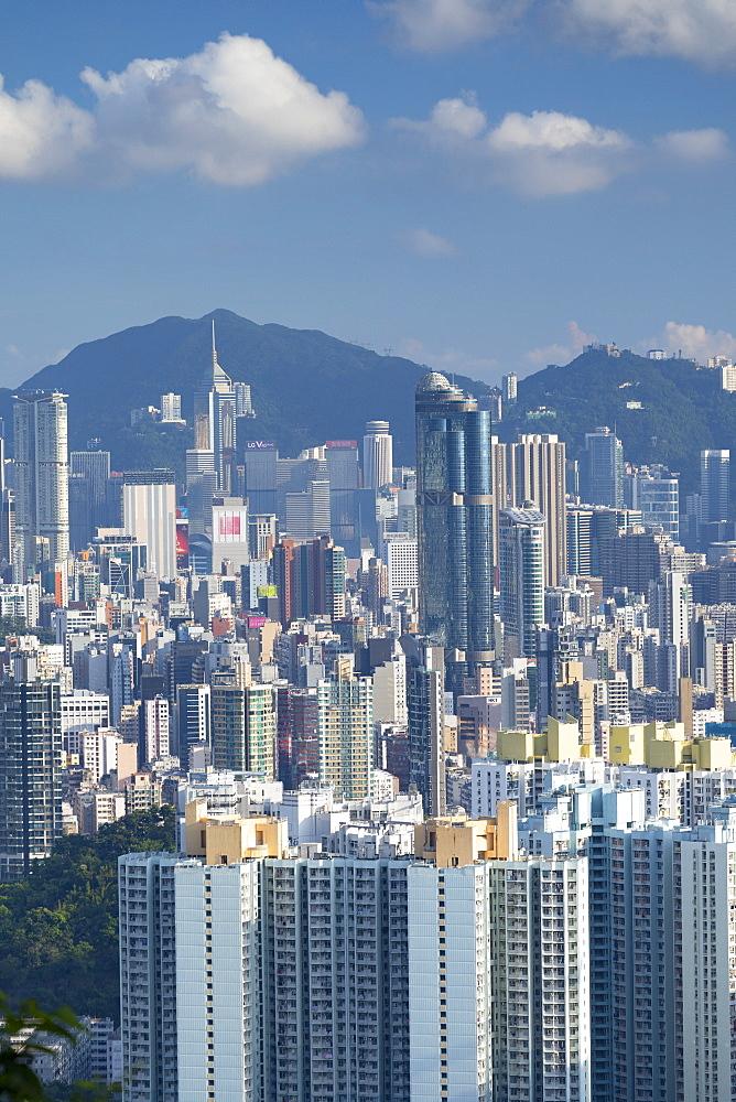 Skyline of Kowloon and Hong Kong Island, Hong Kong, China, China, Asia