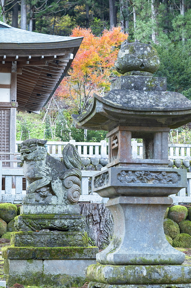 Shinto shrine, Ainokura, Gokayama, Toyama Prefecture, Honshu, Japan, Asia