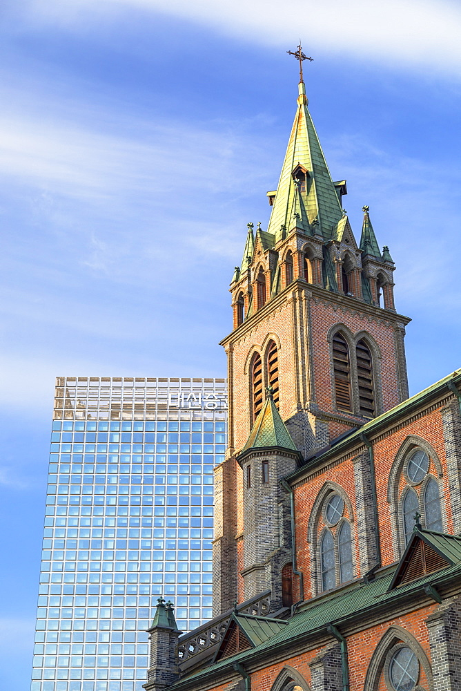 Myeongdong Cathedral, Seoul, South Korea, Asia