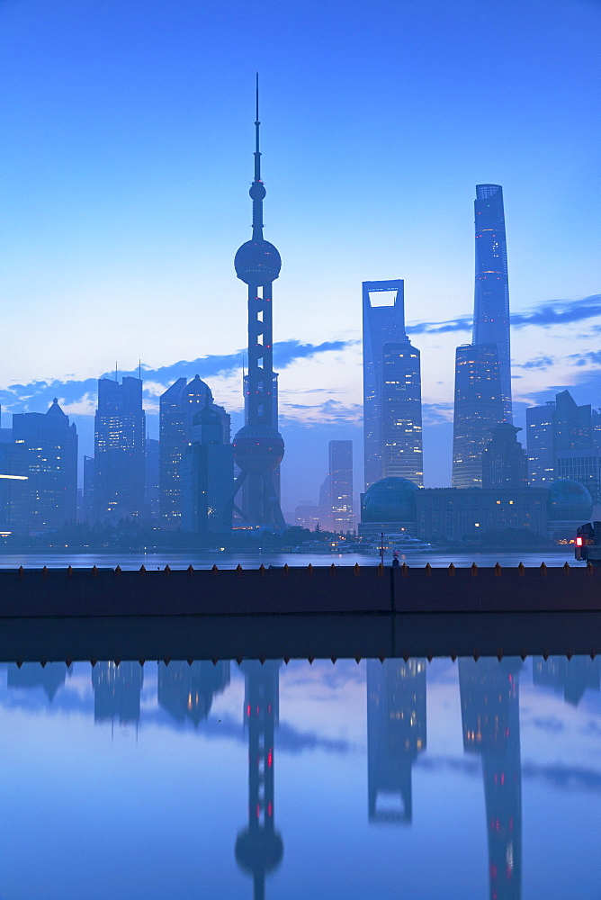 Skyline of Pudong at dawn, Shanghai, China, Asia - 800-3930