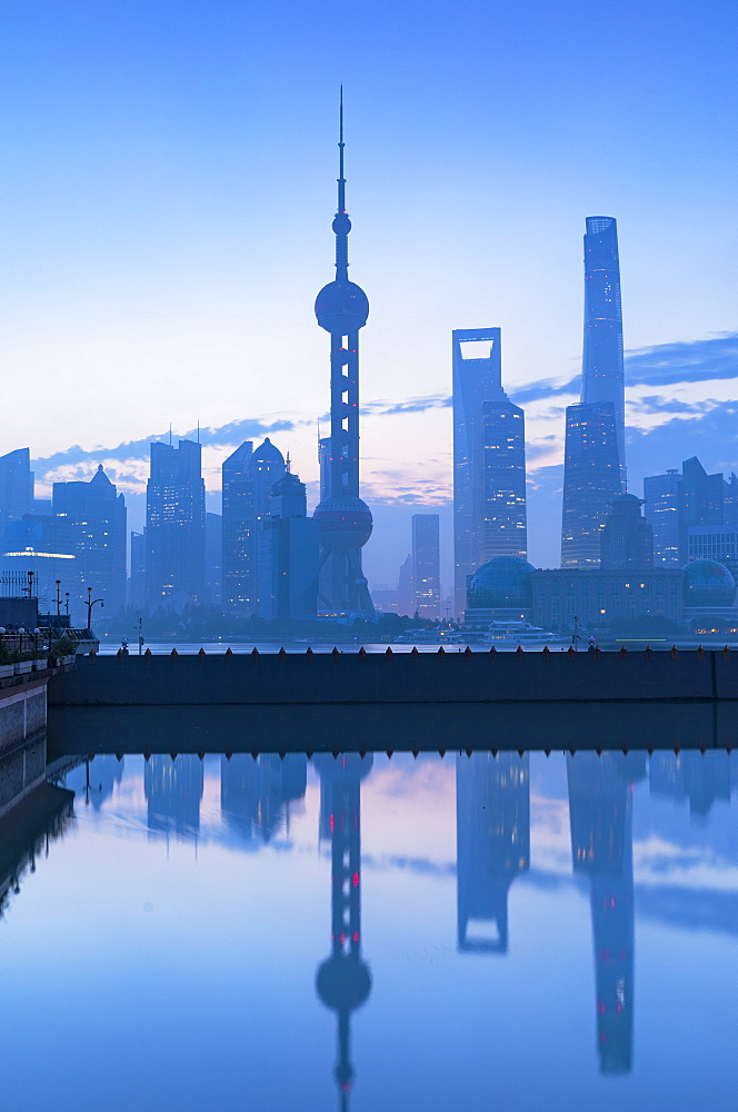Skyline of Pudong at dawn, Shanghai, China, Asia - 800-3933