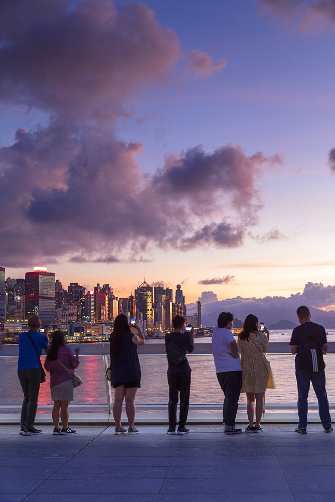 People watching sunset from Harbour City, Hong Kong, China, Asia - 800-3971