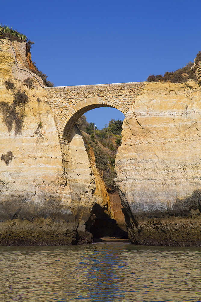 Roman Bridge, near Lagos, Algarve, Portugal, Europe