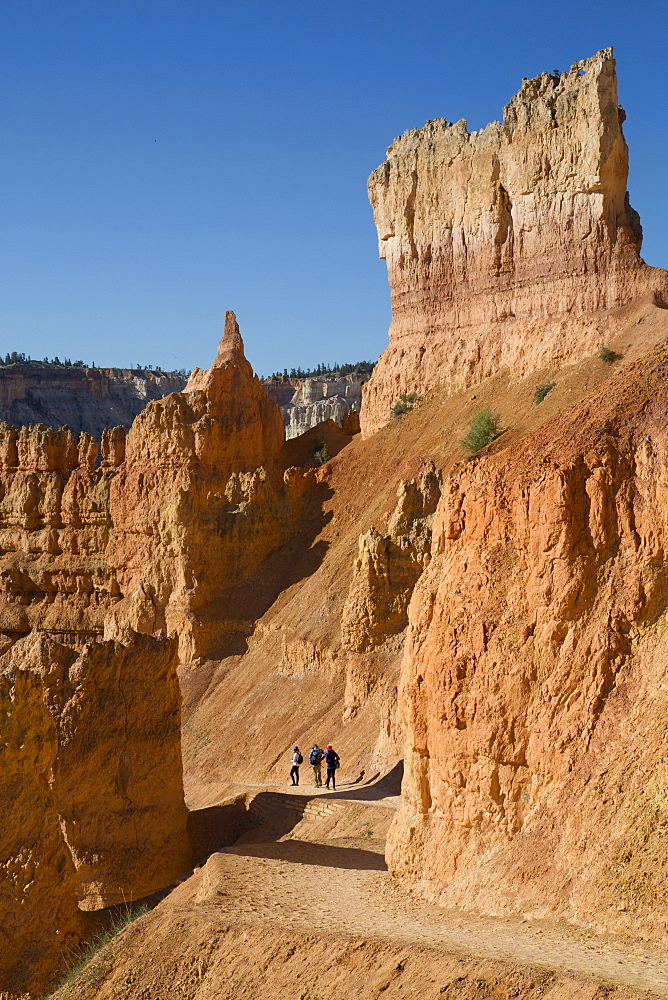 Hiking the Queens Garden Trail, Bryce Canyon National Park, Utah, USA