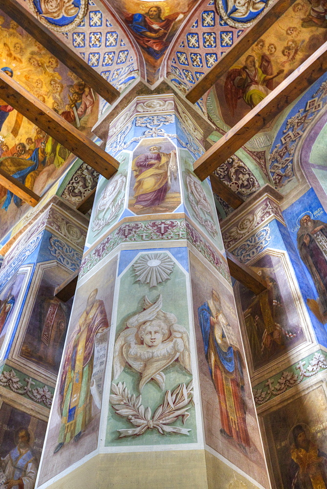 Frescoes, Cathedral, St. Anthony Monastery, UNESCO World Heritage Site, Veliky Novgorod, Novgorod Oblast, Russia, Europe