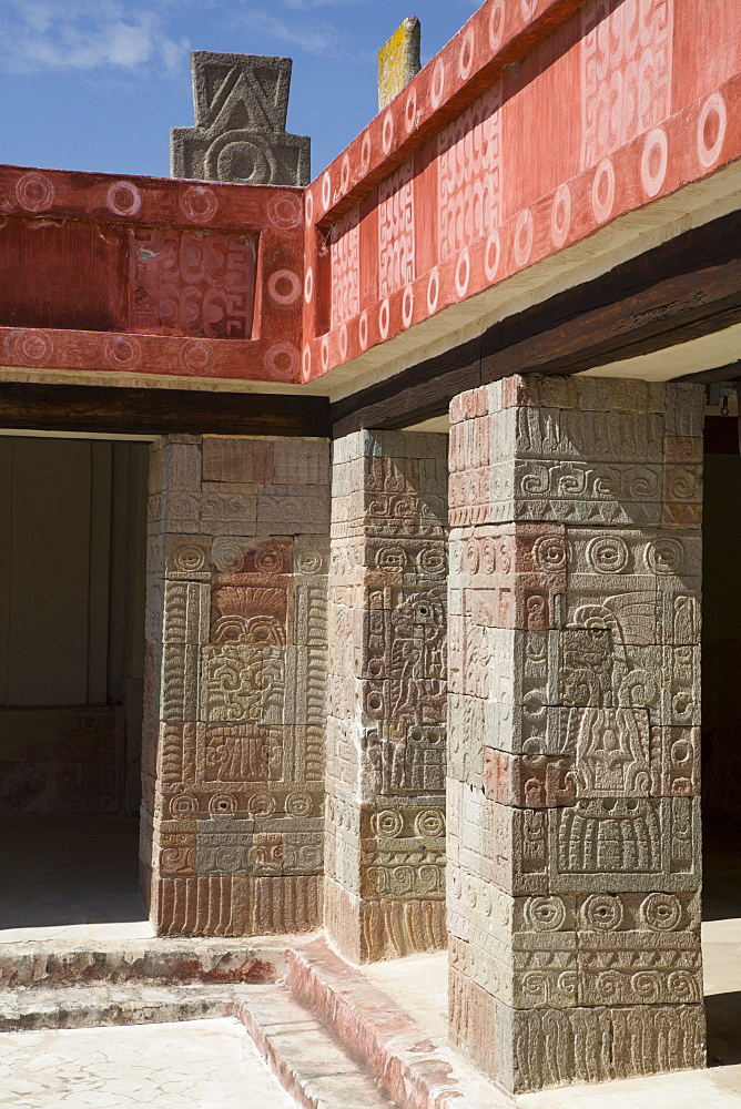 Patio of the Pillars, Teotihuacan Archaeological Zone, UNESCO World Heritage Site, State of Mexico, Mexico, North America