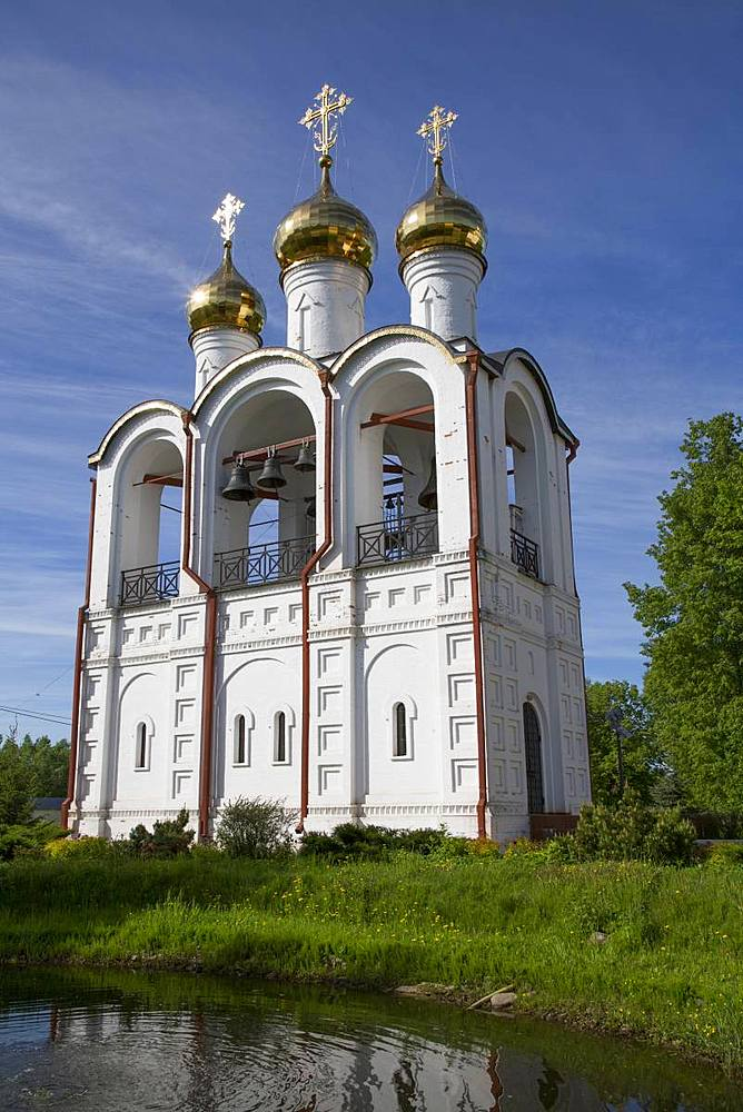 Bell Tower, Nikolsky Women's Monastery (Convent), Pereslavl-Zalessky, Golden Ring, Yaroslavl Oblast, Russia, Europe - 801-2347