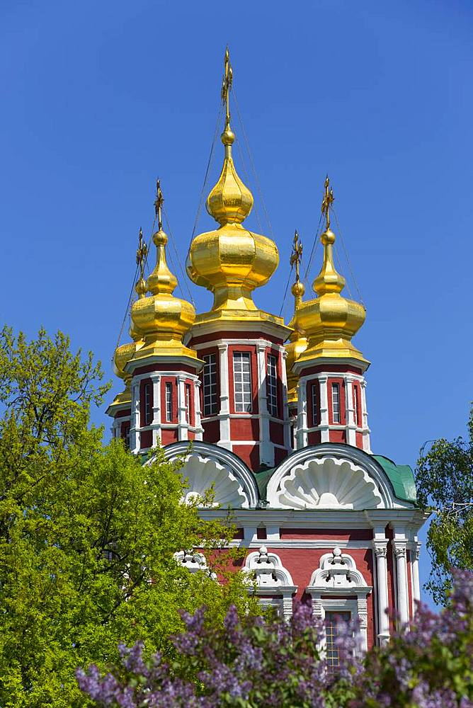 Transfiguration Gate Church, Novodevichy Convent, UNESCO World Heritage Site, Moscow, Russia, Europe