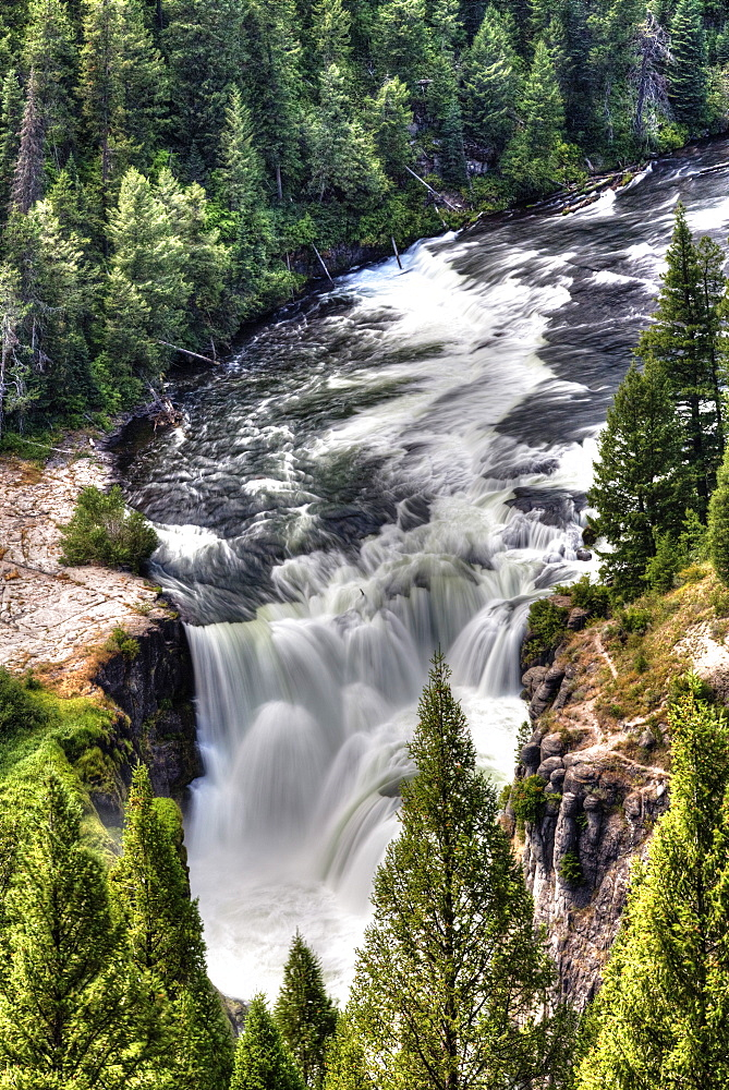 Lower Mesa Falls, near Island Park, Idaho, United States of America, North America - 801-2423