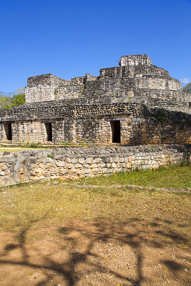 Oval Palace, Ek Balam, Yucatec-Mayan Archaeological Site, Yucatan, Mexico, North America