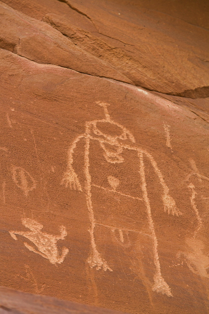 Sand Island Petroglyph Panel, near Bluff, Utah, United States of America, North America