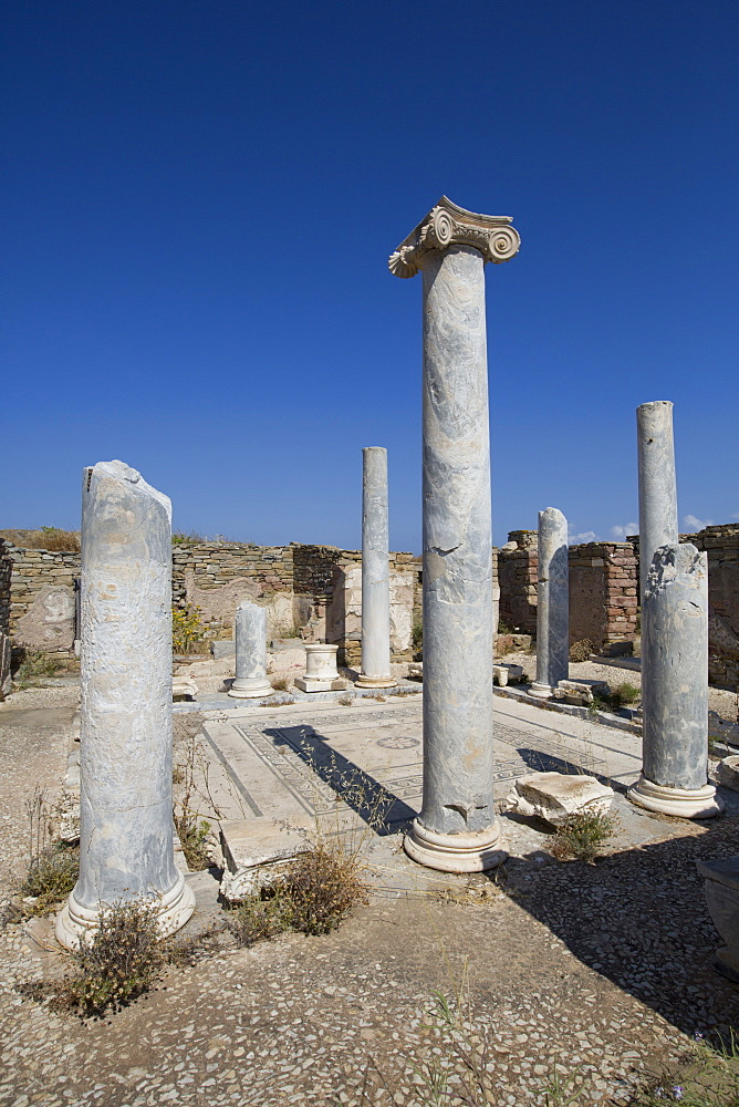 Lake House, Delos Island, UNESCO World Heritage Site, Cyclades Group, Greek Islands, Greece, Europe