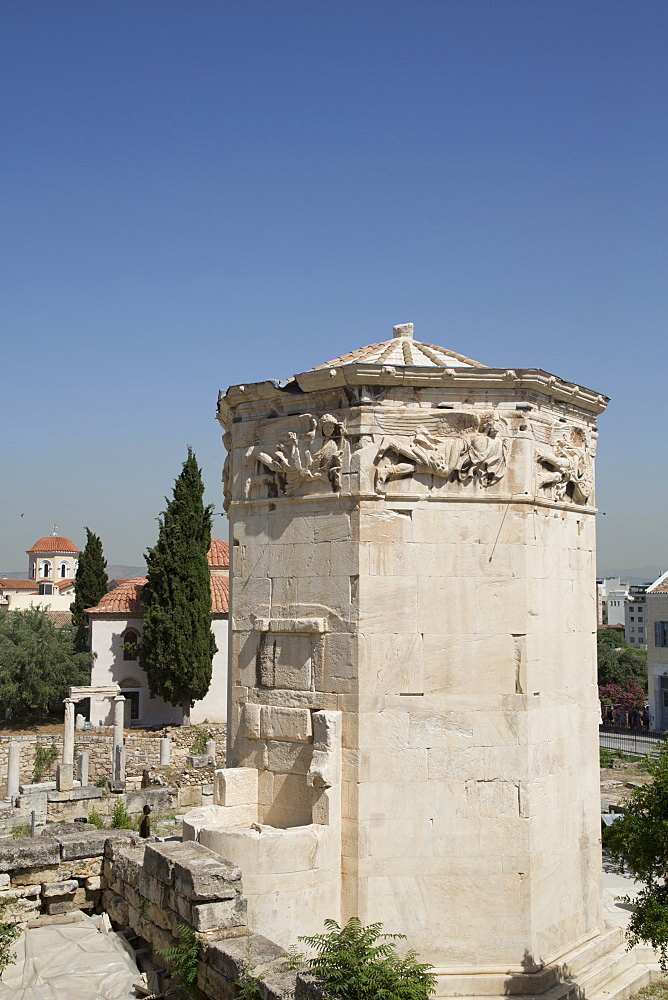 Tower of Winds, Roman Agora, Athens, Greece, Europe