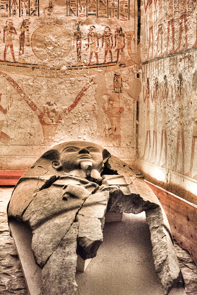Burial Chamber, Tomb of Ramses V and VI, KV9, Valley of the Kings, UNESCO World Heritage Site, Luxor, Thebes, Egypt, North Africa, Africa