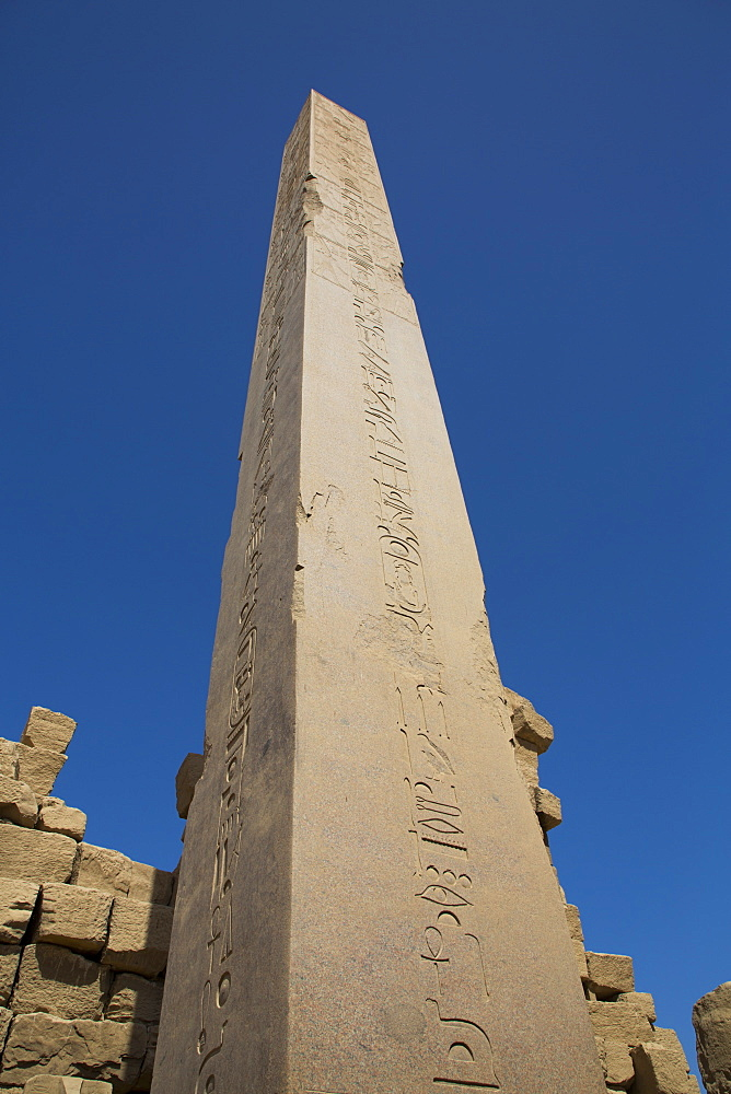 Obelisk of Tuthmosis I, Karnak Temple Complex, UNESCO World Heritage Site, Luxor, Thebes, Egypt, North Africa, Africa