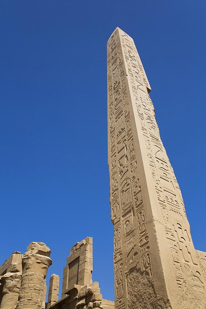 Obelisk of Hatshepsut, Karnak Temple Complex, UNESCO World Heritage Site, Luxor, Thebes, Egypt, North Africa, Africa