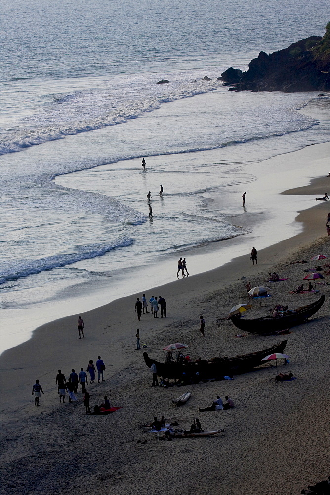 View of Kovalam beach, Trivandrum, Kerala, India, Asia - 804-285