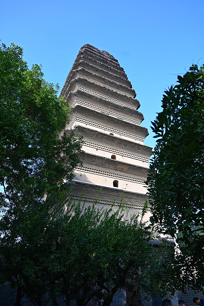 Small Wild Goose Pagoda, a Tang dynasty Buddhist monument, UNESCO World Heritage Site, Xian, Shaanxi, China, Asia