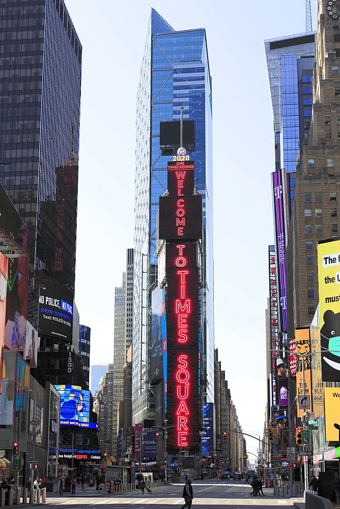 Times Square, Manhattan, New York City, New York, United States of America, North America - 807-2035