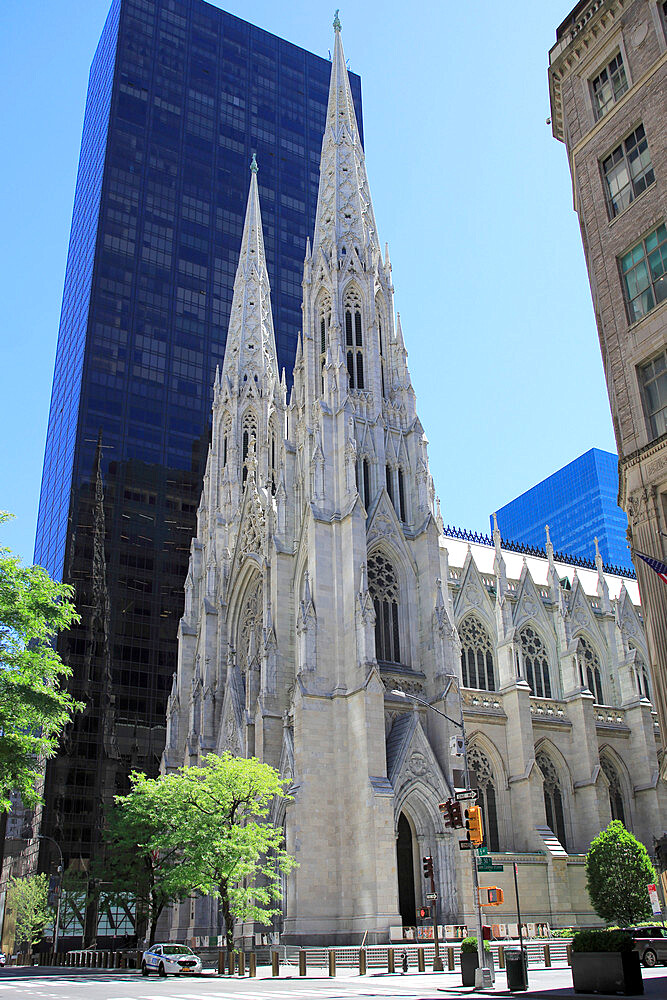 St. Patrick's Cathedral, 5th Avenue, Midtown, Manhattan, New York City, New York, USA - 807-2043