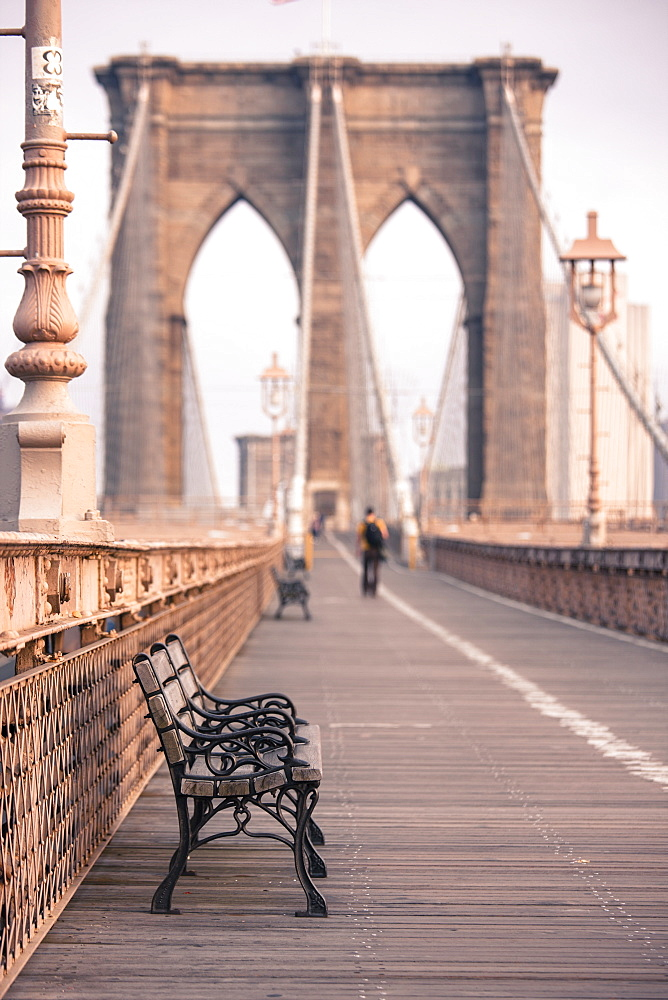 Brooklyn Bridge, New York, United States of America, North America