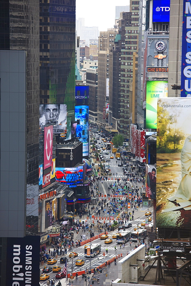 Broadway and Times Square, Manhattan, New York City, New York, United States of America, North America