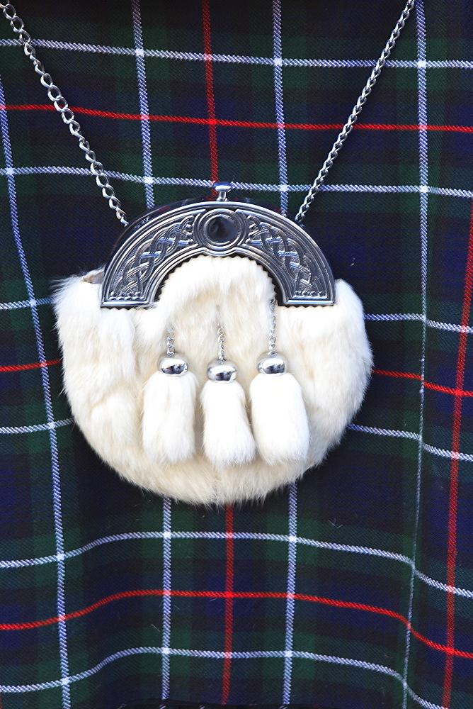 Kilt and sporren, Edinburgh, Scotland, United Kingdom, Europe