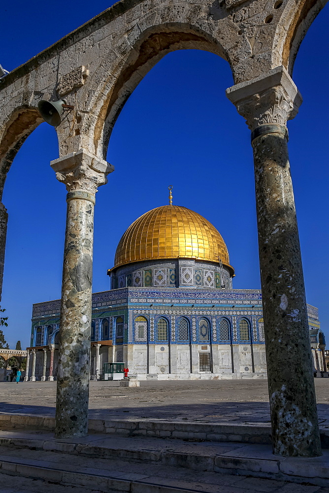 Dome of the Rock, UNESCO World Heritage Site, East Jerusalem, Israel, Middle East - 809-7653