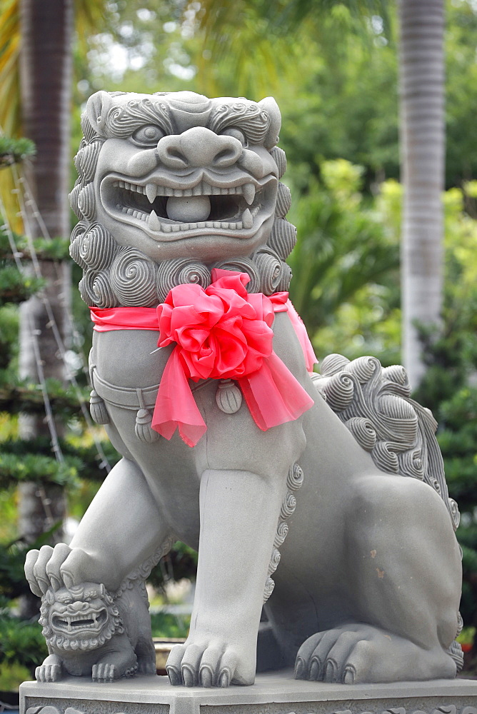 Imperial guardian lion statue, Chau Doc, Vietnam, Indochina, Southeast Asia, Asia - 809-7674